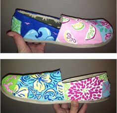 Lilly patterns on Toms