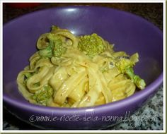 Le Ricette della Nonna: Tagliatelle panna, broccoli e zafferano Pasta Con Broccoli, Bolognese, Cabbage, Meat, Chicken, Vegetables, Food, Cooking, Kitchen