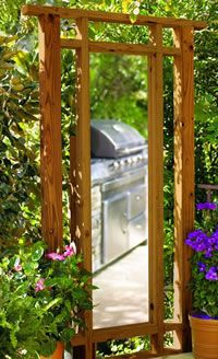 mirrored outdoor privacy screen plans
