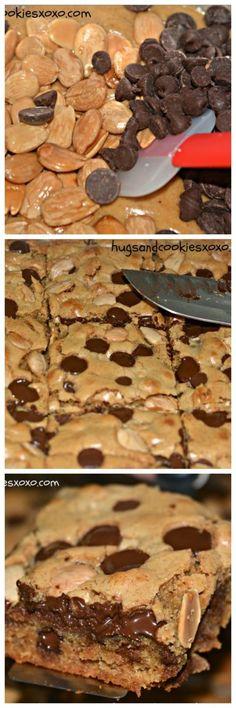 Marcona Almond & Chocolate Chip Blondies