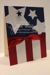 of July using the NEW Star Framelits with Deb Valder Stampin' Up! Holiday Cards, Christmas Cards, Holiday Ideas, Military Cards, Star Cards, Patriotic Crafts, July Crafts, Bow, Creative Cards