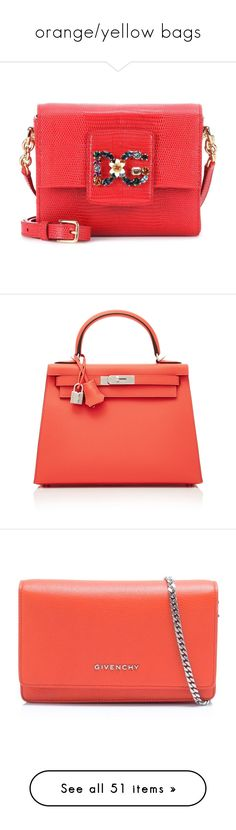"""""""orange/yellow bags"""" by mrstomlinson974 on Polyvore featuring bags, handbags, shoulder bags, red, mini shoulder bag, red hand bags, leather handbags, red leather purse, red leather shoulder bag and pink"""