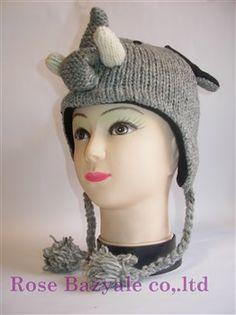 Woolen Animal Hand Made Knitt Hat Elephant