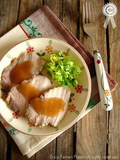Roast beef di maiale al thè nero