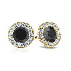 Diamant - Brillantohrstecker 2.00 Karat, 585/14K Gelbgold für nur 2499 Euro #diamantohrstecker #weissgold #gelbgold #rosegold #schwarze_diamanten #schmuck #ohrschmuck #ohrstecker #juwelier #abt #dortmund #karat