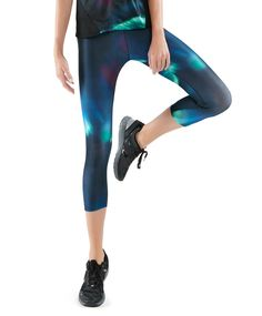Leggings with a Northern Lights print - OYSHO