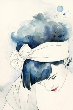 Emma Leonard illustration - watercolour, ink and pencil.