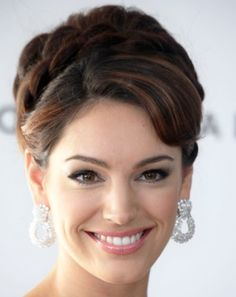 BRAIDED BUN HAIRSTYLES FOR PROM