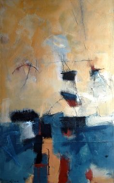 Equilibre (Peinture 2005) - Olivier Juredieu Architecte, Peintre, Photographe