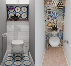 Small Toilet Decor, Small Toilet Room, New Toilet, Bathroom Design Inspiration, Bathroom Interior Design, Interior Design Living Room, Wc Design, Toilet Design, Tiny Bathrooms