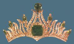 Iranian Crown Jewels #Emerald  #tiara #RoyalTiara
