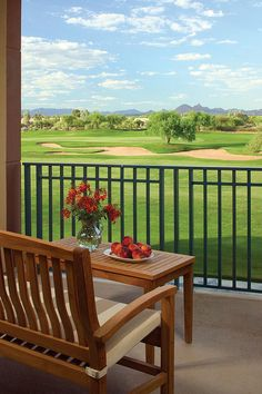 View from the balcony guest room - The Westin Kierland Villas #svnlife #scottsdale