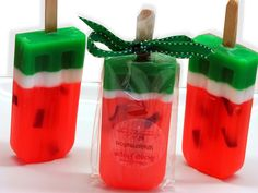watermelon scented soap - so cute for summer shower gift basket