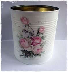 1 million+ Stunning Free Images to Use Anywhere Decoupage Tins, Decoupage Tutorial, Decoupage Furniture, Decoupage Vintage, Furniture Board, Coffee Can Crafts, Tin Can Crafts, Painted Tin Cans, Paint Cans