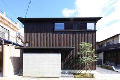 House in Rakuhoku 2010|洛北の家 堀部安嗣 Modern Townhouse, Zen Space, Facade, Exterior, Outdoor Decor, Design, Home Decor, Garden, Room