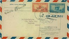 Aviator Orville Wright Signed Air Mail Postal Cover (1928)
