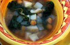 Portuguese Spinach & Chickpea Soup Recipe