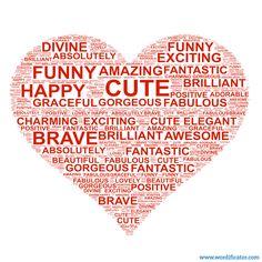 WordArt, Heart, Love! Turn your words into shape! #heart #love #art #wordart