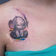 This cute lil peanut playing with finger paintssss! #watercolor #watercolortattoo #watercolour #watercolourtattoo #watercolortattoos #watercolourtattoos #tattoo #colortattoo #abstract #abstracttattoo #sketchtattoo #sketchytattoo #elephant #elephanttattoo #watercolorelephant #watercolorelephanttattoo #cute #adorable #cutetattoo #smalltattoo #littletattoo #fingerpaint #electricink #electrumstencilprimer #electra @electricink @oneinkseven #thankful (at Hart and Huntington Orlando)