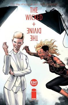 The Wicked + the Divine #1D variant?(colour? i thought it was black and white?)