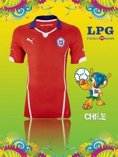 Camiseta de la selección de Chile en el mundial #Brasil2014