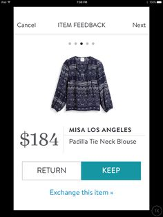 Misa Los Angeles Padilla Tie Neck Blouse