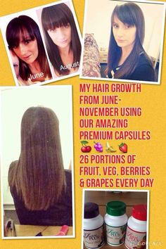 juice plus can also help with hair growth too! check out Christina!