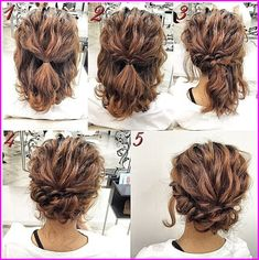 Elegant simple hairstyles for short thin hair to do at home - Hair - Hair Up Dos For Medium Hair, Medium Hair Styles, Curly Hair Styles, Natural Hair Styles, Hair Medium, Natural Beauty, Medium Length Curly Hairstyles, Curly Hairstyles For Medium Hair, Pixie Styles