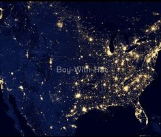 """See amazing photos of Earth at night, dubbed the """"Black Marble,"""" as seen by NASA's Suomi NPP satellite. Earth And Space, Nocturne, Earth At Night, Marbles Images, Nasa Images, Nasa Photos, Nasa Pictures, Earth Photos, Big Sky Country"""