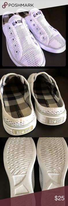 Converse all star slip ons Lightly used and clean. These are adorable on. Size 7 Shoes Sneakers