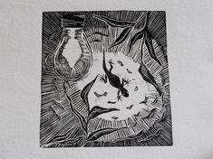Linocut Prints, Art Prints, Hand Carved, I Shop, Handmade Items, Carving, Stamp, Bike, The Originals