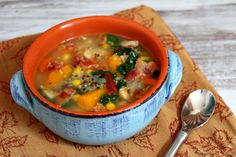 Harvest Vegetable, Chicken and Quinoa Soup with Bacon