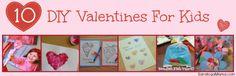 10 DIY Valentine's for Kids!