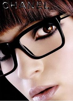 Chanel eye glasses, I wish my glasses were these cool!