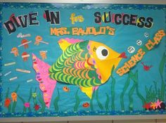 Dive in For Success! - Ocean Themed Back-To-School Science Board
