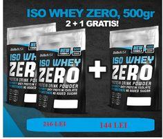 Iso Whey Zero, 500 g, 2+1 GRATUIT