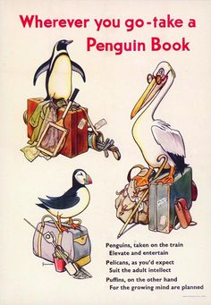 Vintage ad for the Penguin-Pelican-Puffin brands of pocketbooks