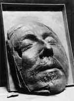This is the death mask of Oliver Cromwell.