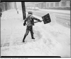 Vintage Photographs of Toronto Snow Storms that took place over the years including some of the aftermaths and how the city dealt with the snow. Toronto Snow, Toronto Ontario Canada, Vintage Photographs, Vintage Photos, What Is Life About, Montreal, Past, City, Outdoor