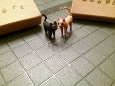 Made to order wooden miniature jointed kitten by MonkEyGstudio