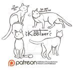 Cats reference sheet 2 by Kibbitzer