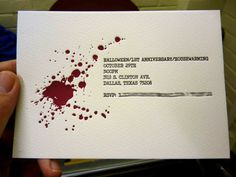 Letterpress Halloween Invitations