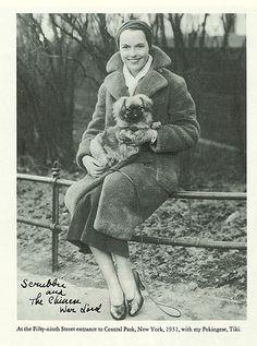 Louise Brooks and her pekingese, 1931.