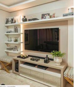 Tv Cabinet Design, Tv Wall Design, Home Living Room, Living Room Decor, Tv Unit Furniture, Living Room Tv Unit Designs, Muebles Living, Tv Wall Decor, Home Interior Design
