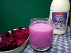 Ganesha Kefir Smoothie with Red Dragon Fruit... #kefir #ganeshakefir #minumansehat #dairyproduct  #smoothie #kefirsmoothie