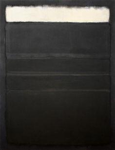Mark Rothko, Untitled (White, Blacks, Grays on Maroon), 1963
