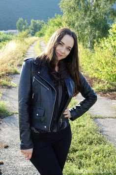 lady in black: Black leather #fashion #rockstyle #rocknroll #rocknrollstyle #rocknrollfashion #leather #blackleather #jacket #leatherjacket #killstar #rockchick #metalwoman #metalstyle #heavymetal #musthave #qualityleather #rockgirl #metalgirl