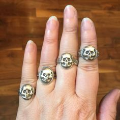 Stacking skull ring skull statement ring unisex skull ring