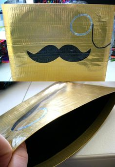 Classy Stache Duct Tape Ipad Sleeve by Shay Lynam