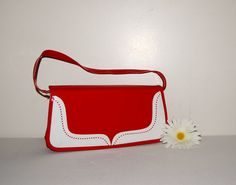 Vintage Red Patent Spectator Purse 60s by CheekyVintageCloset, $26.00